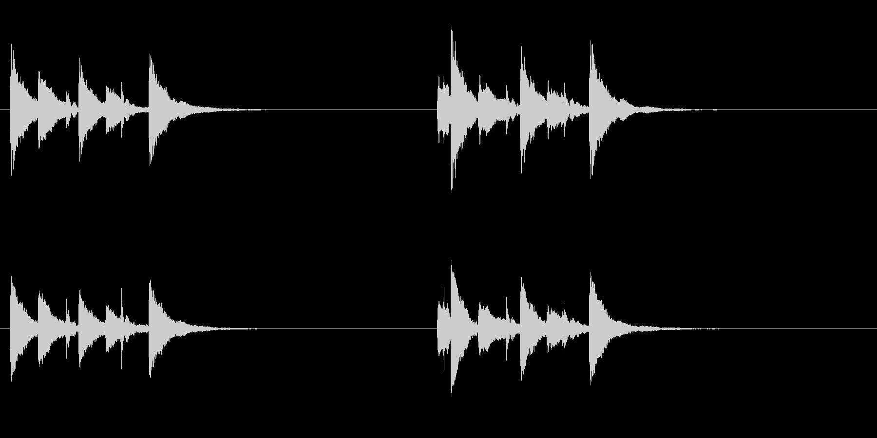 土着的トーキングドラムのフレーズ音+FXの未再生の波形
