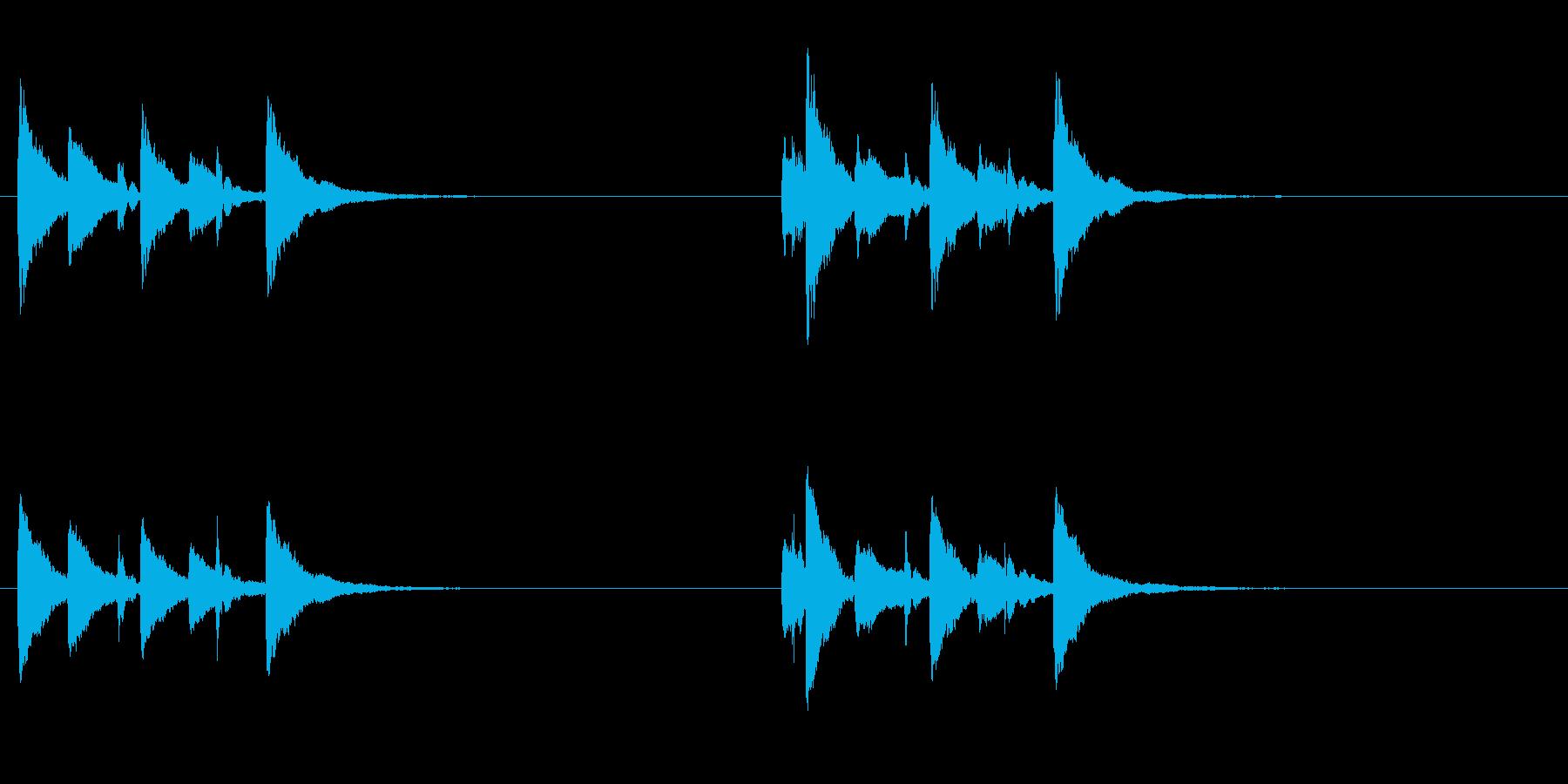 土着的トーキングドラムのフレーズ音+FXの再生済みの波形