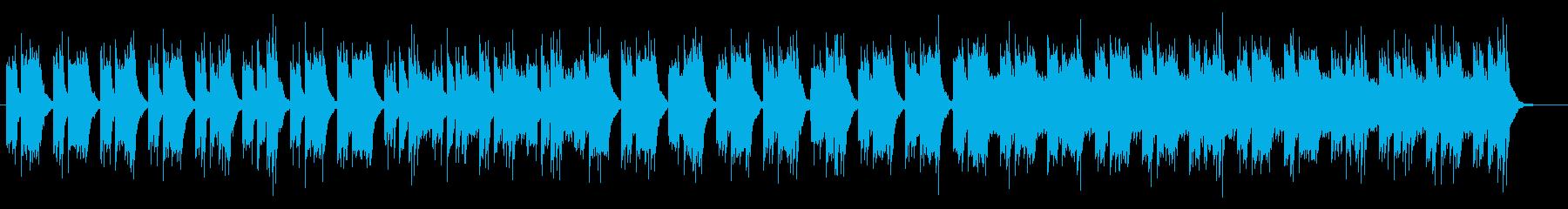静かにひっそりとしたミュージックの再生済みの波形