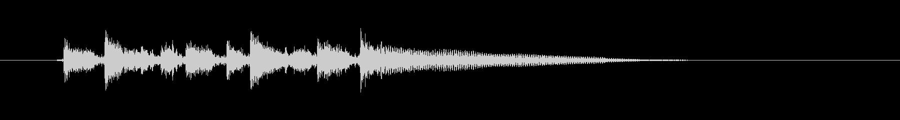 おしゃれなギター音(弦、弾く)の未再生の波形
