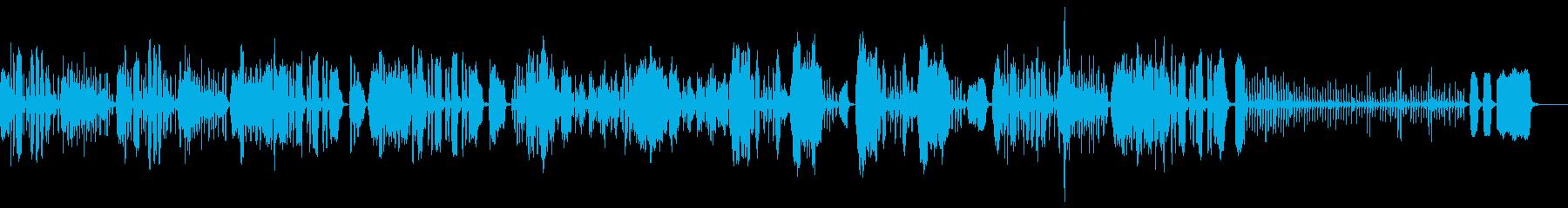 ほのぼのしたリコーダー曲の再生済みの波形