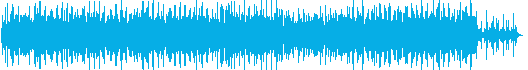 和風の三味線テクノの再生済みの波形