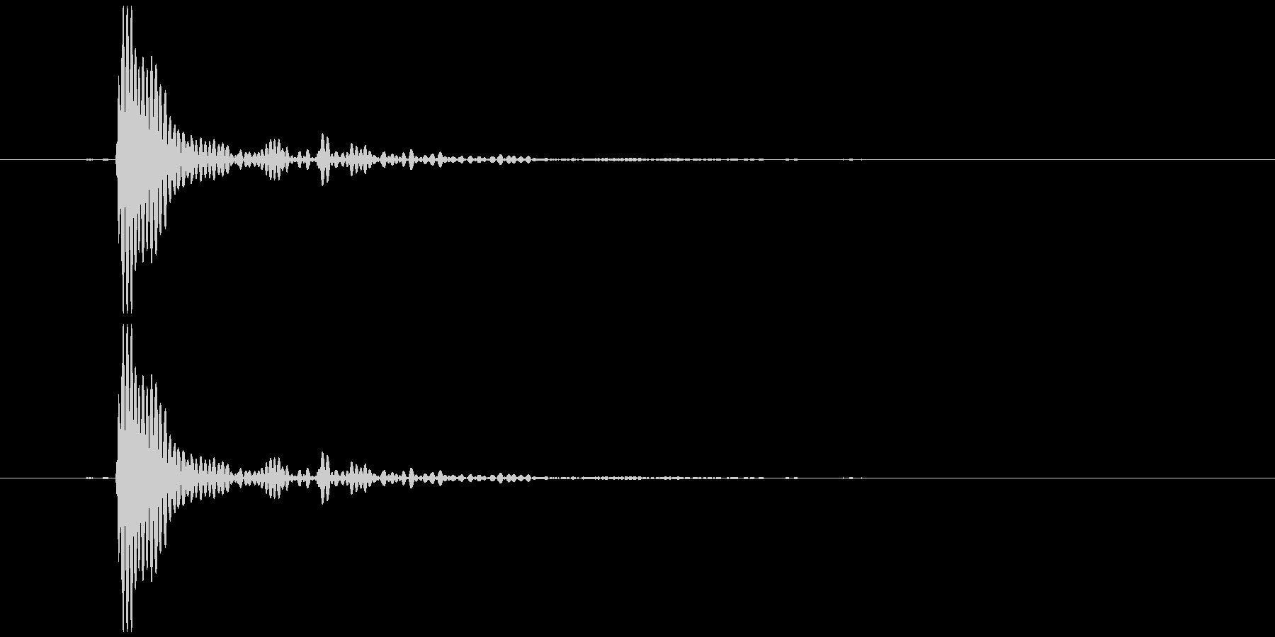 プラカップを置く音1の未再生の波形