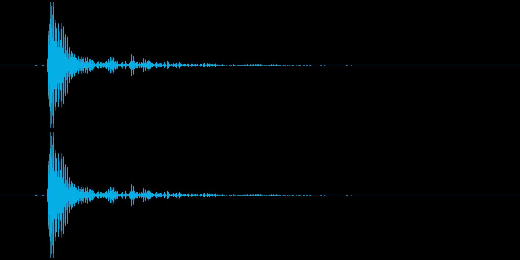 プラカップを置く音1の再生済みの波形
