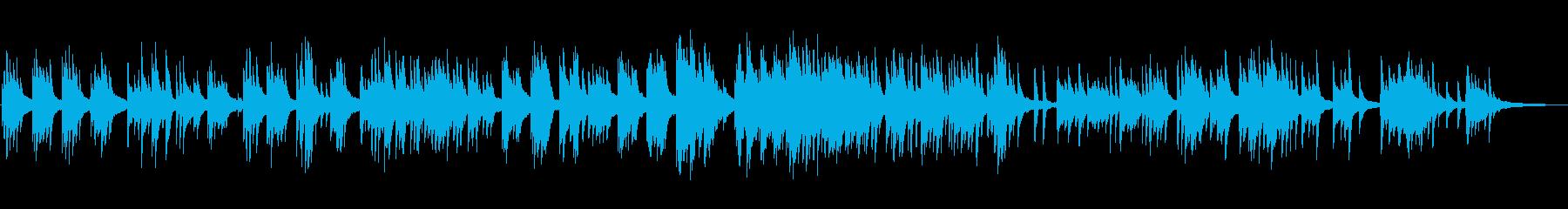 穏やかな日常のピアノBGMの再生済みの波形