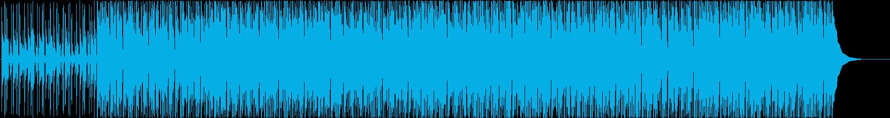 ポジティブ、ウクレレ、背景の再生済みの波形