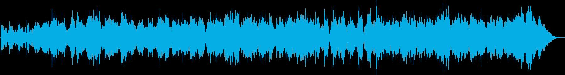 ストリングスのゆったりしたリラックス曲の再生済みの波形