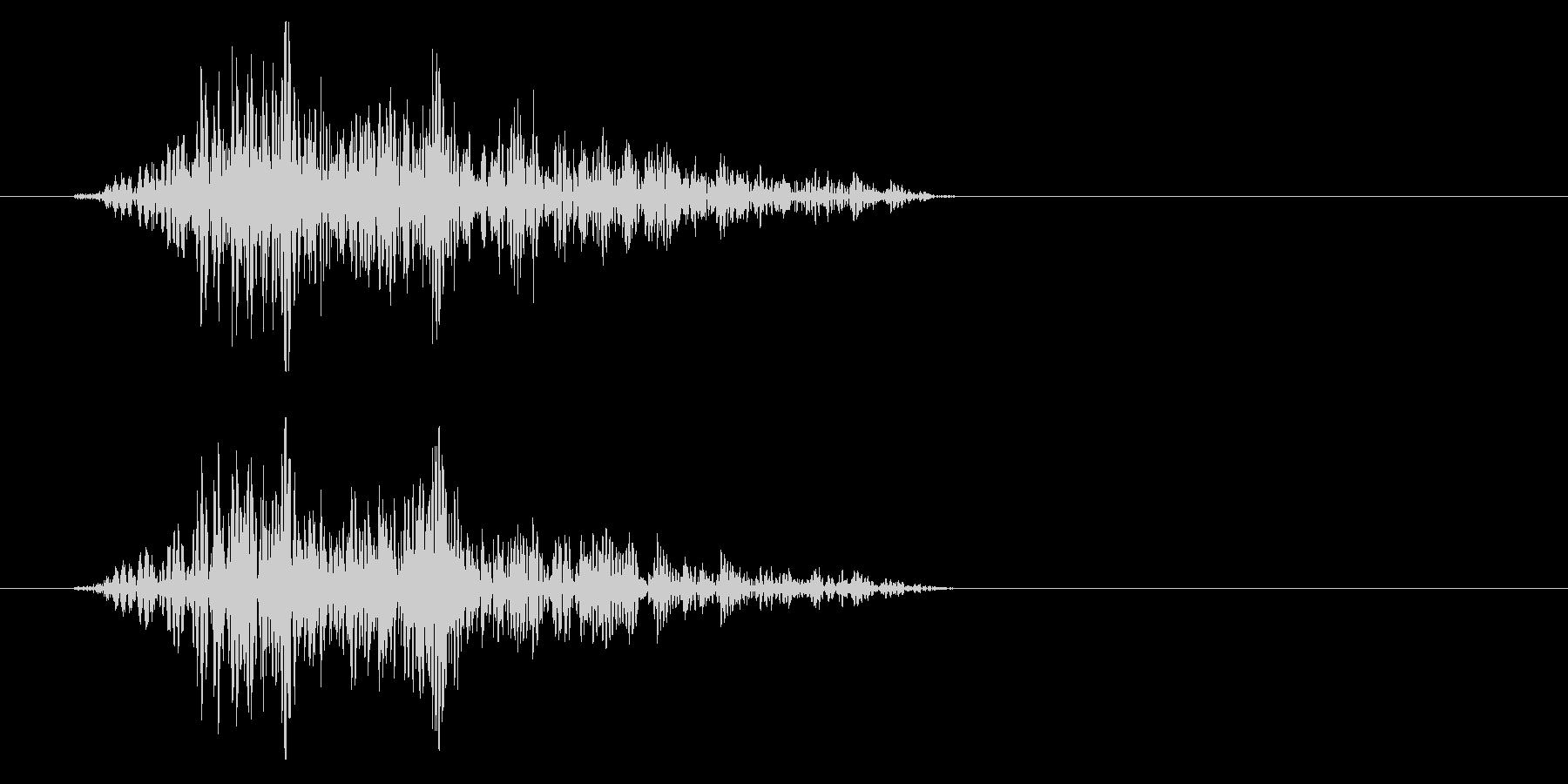 シュパっ、という風を切る効果音の未再生の波形