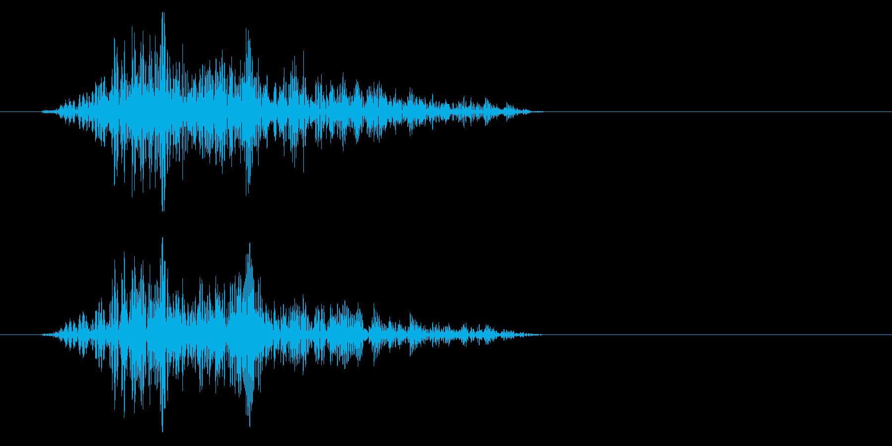 シュパっ、という風を切る効果音の再生済みの波形