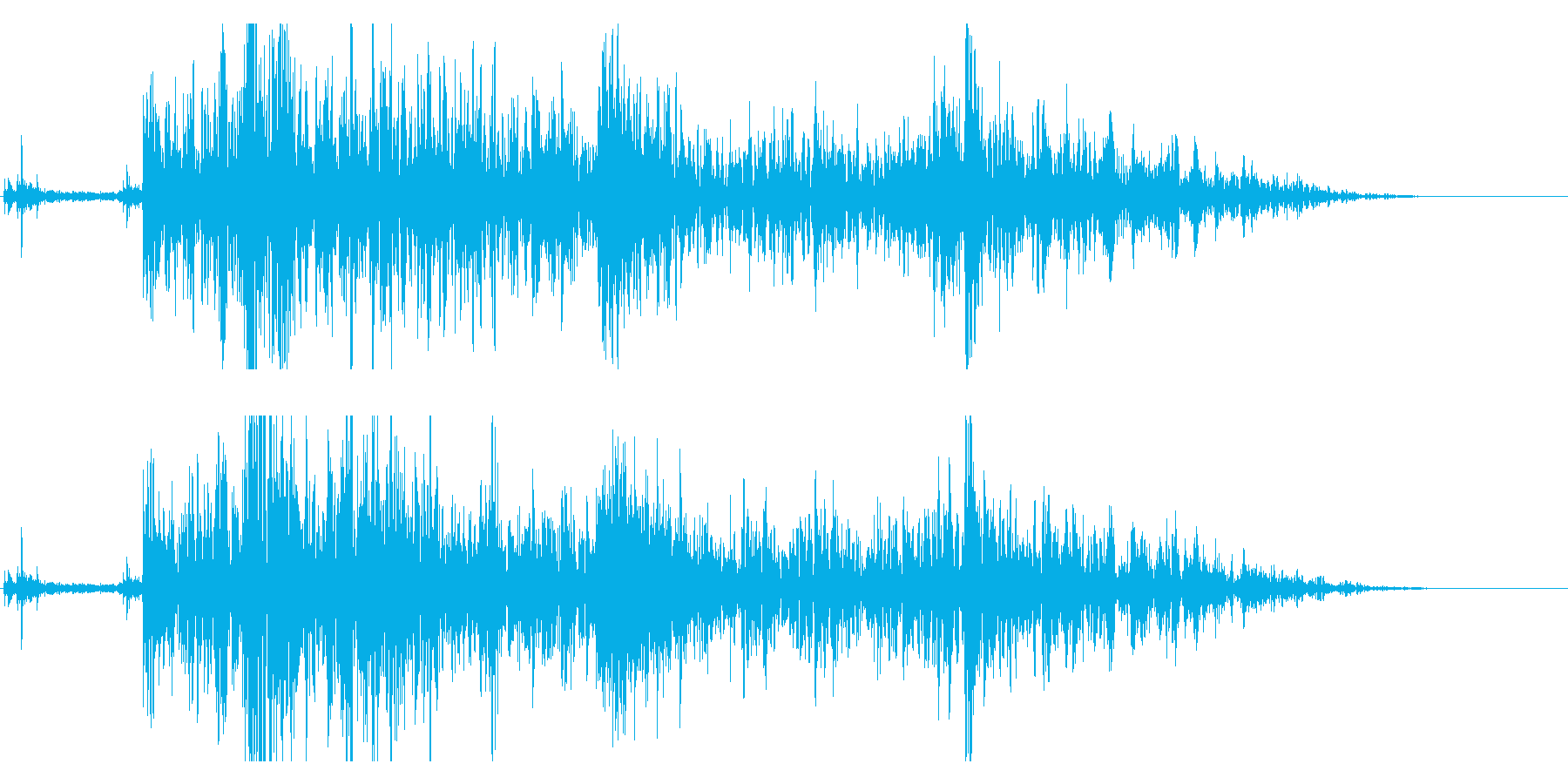 ドンパァ!本当にリアルな花火の効果音15の再生済みの波形