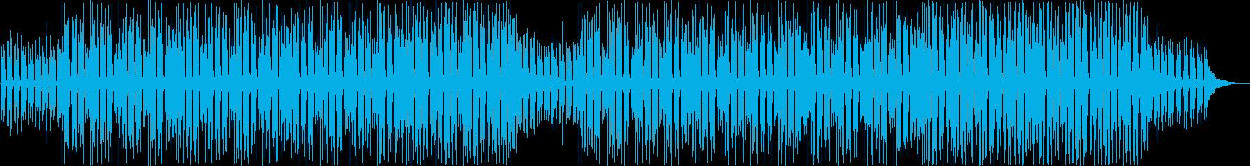 ほのぼのする日常的なアコースティックの再生済みの波形