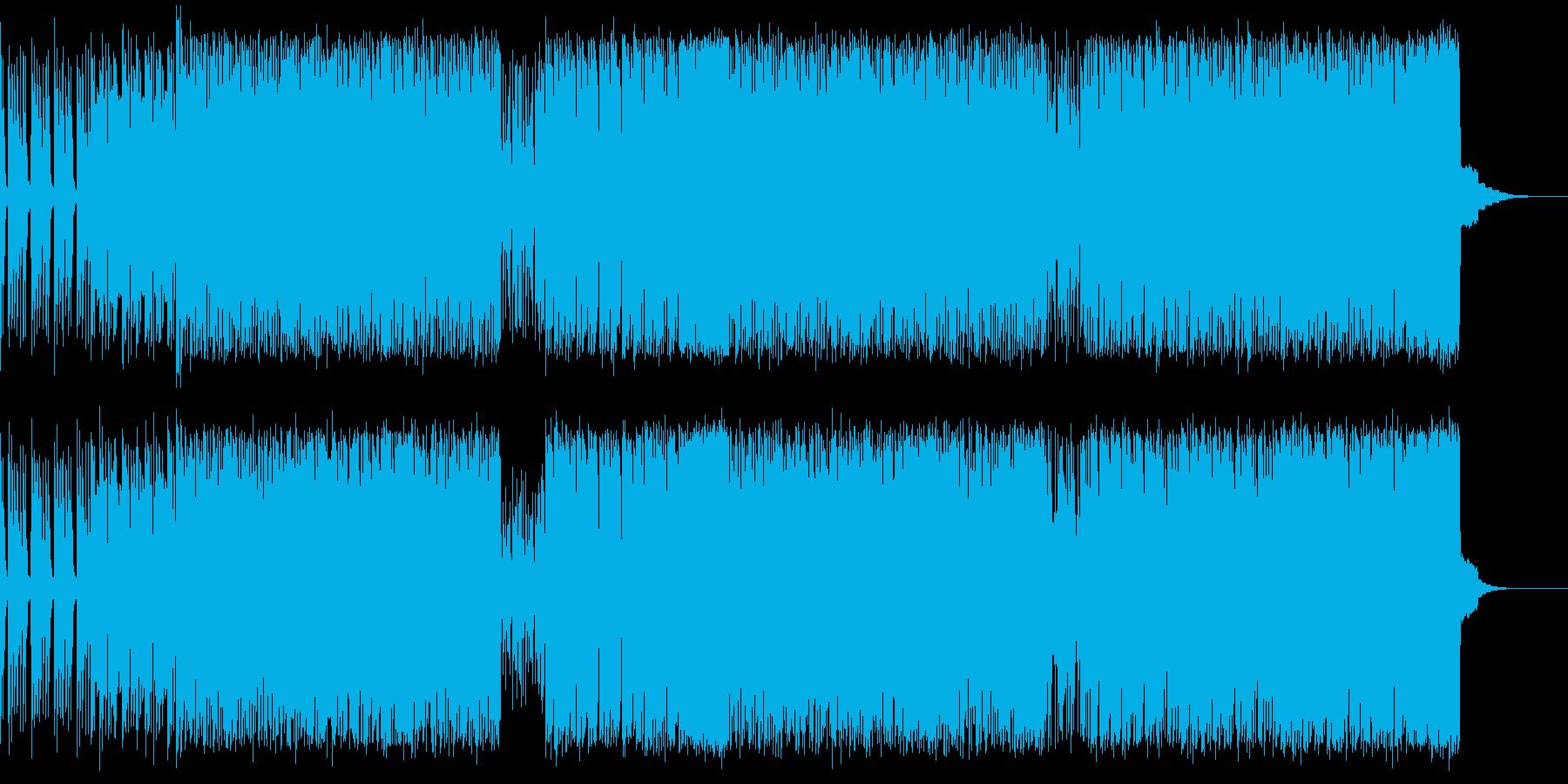 クラシックなスタイルのレトロトラックの再生済みの波形