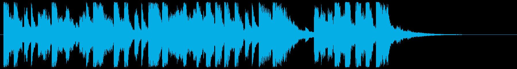 15秒の爽快なフューチャーベースジングルの再生済みの波形