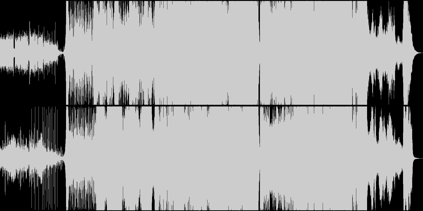 和風楽器を使った壮大な劇伴曲の未再生の波形