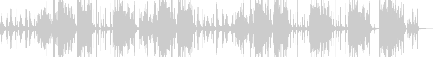 さりげない劇伴ピアノの未再生の波形