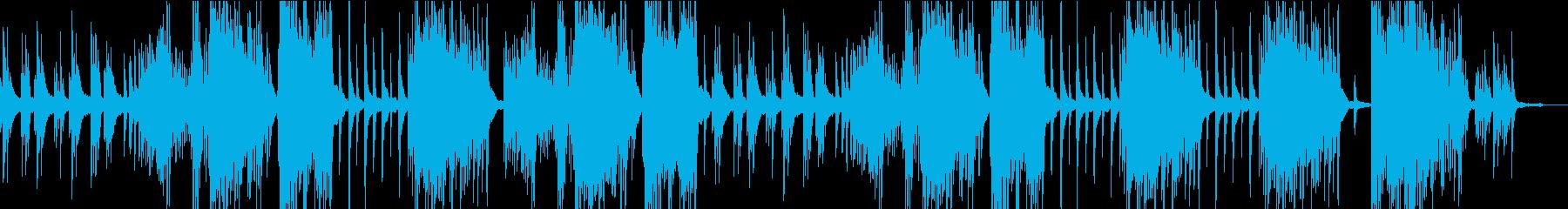 さりげない劇伴ピアノの再生済みの波形