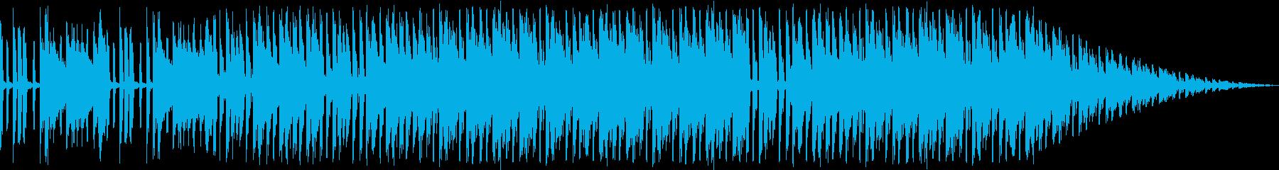 賑やかなクラブミュージックの再生済みの波形