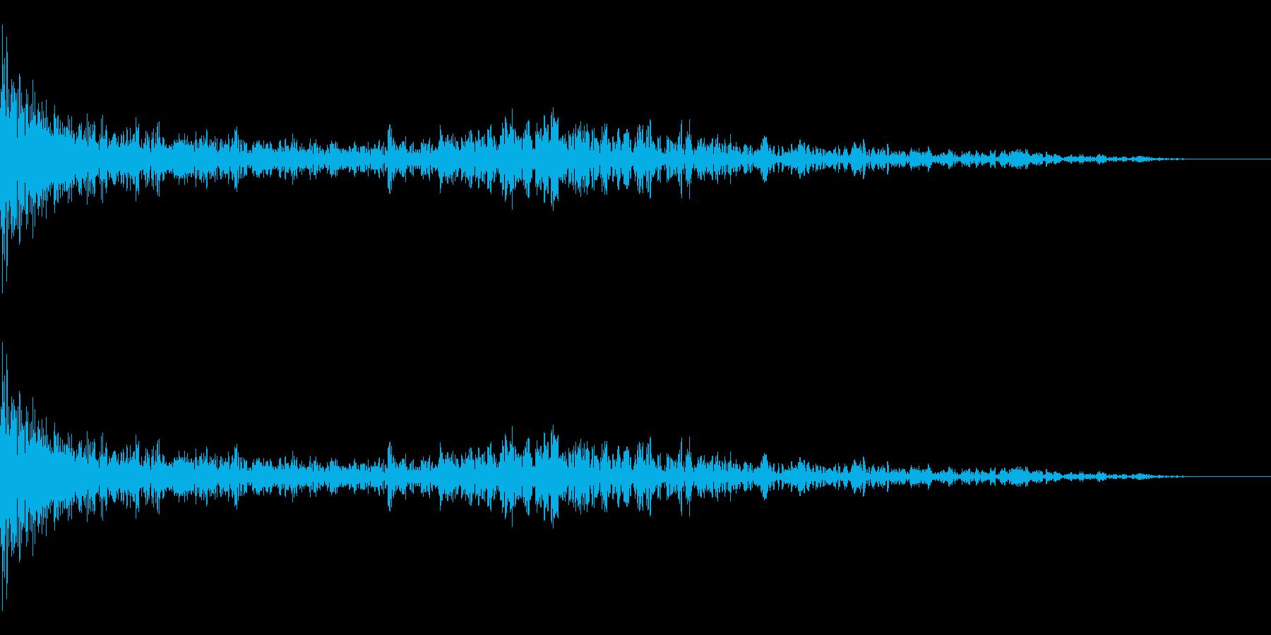 掘削機の再生済みの波形
