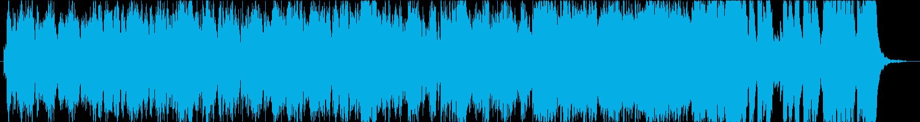 作戦会議、推理シーンなどの緊迫したオケ曲の再生済みの波形
