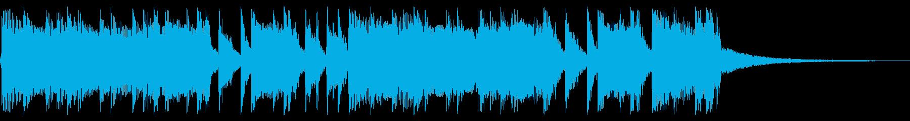 パンキッシュなロックジングル04の再生済みの波形