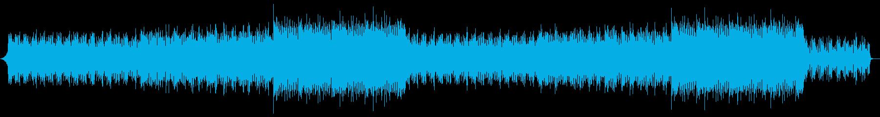 軽快で雄大なエンディングの再生済みの波形