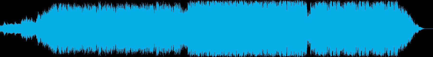 ポップなオーケストラ曲の再生済みの波形