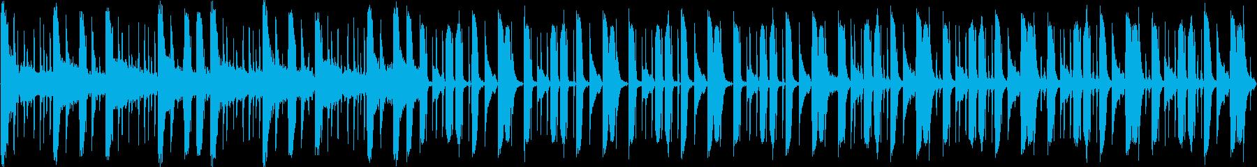 細かいリズムのドラムンベースの再生済みの波形
