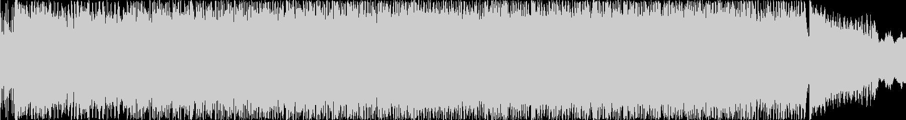 EDMとロックのBGMの未再生の波形