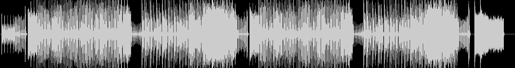 コミカルなテクノポップの未再生の波形