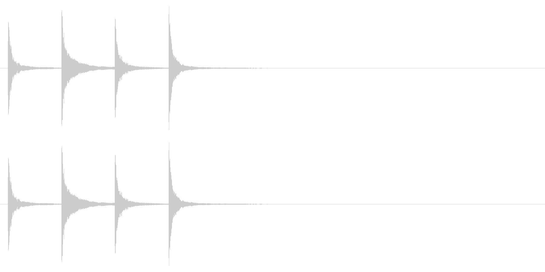 ホラー サスペンスなどの効果音に最適6の未再生の波形