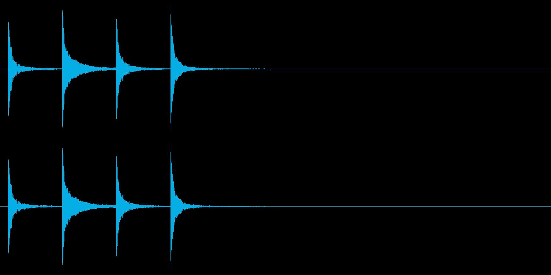ホラー サスペンスなどの効果音に最適6の再生済みの波形