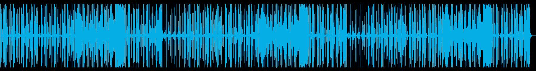 可愛くてほのぼのコミカルな日常系ポップスの再生済みの波形