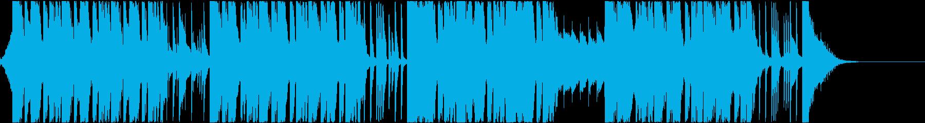 スピード感のあるダンサブルな曲の再生済みの波形