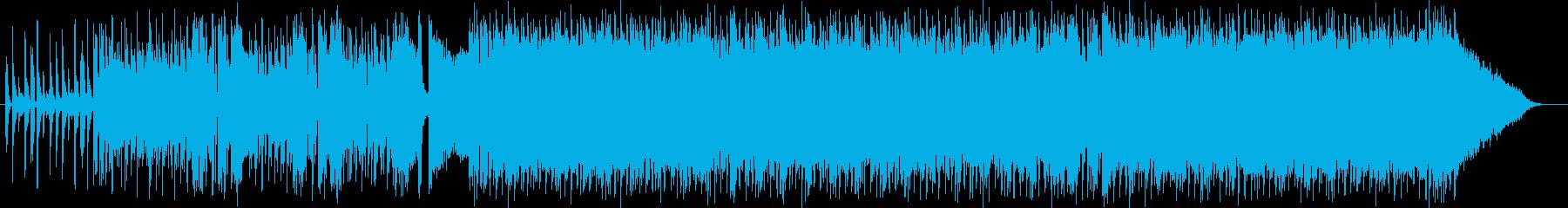 ワイルドでクールなエレキロックサウンドの再生済みの波形