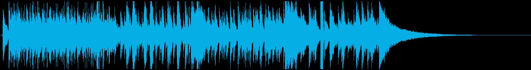 ジャズピアノジングル かっこいい疾走感の再生済みの波形