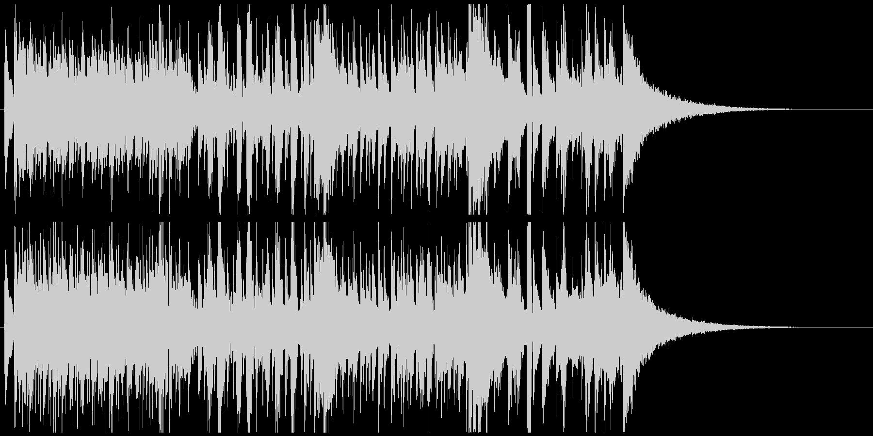 ジャズピアノジングル かっこいい疾走感の未再生の波形