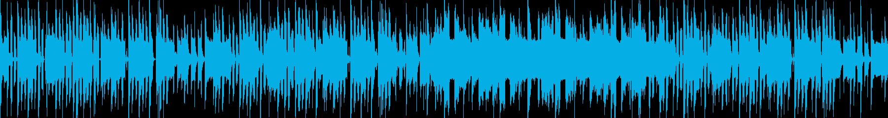 ループ可能なのんびりBGMの再生済みの波形