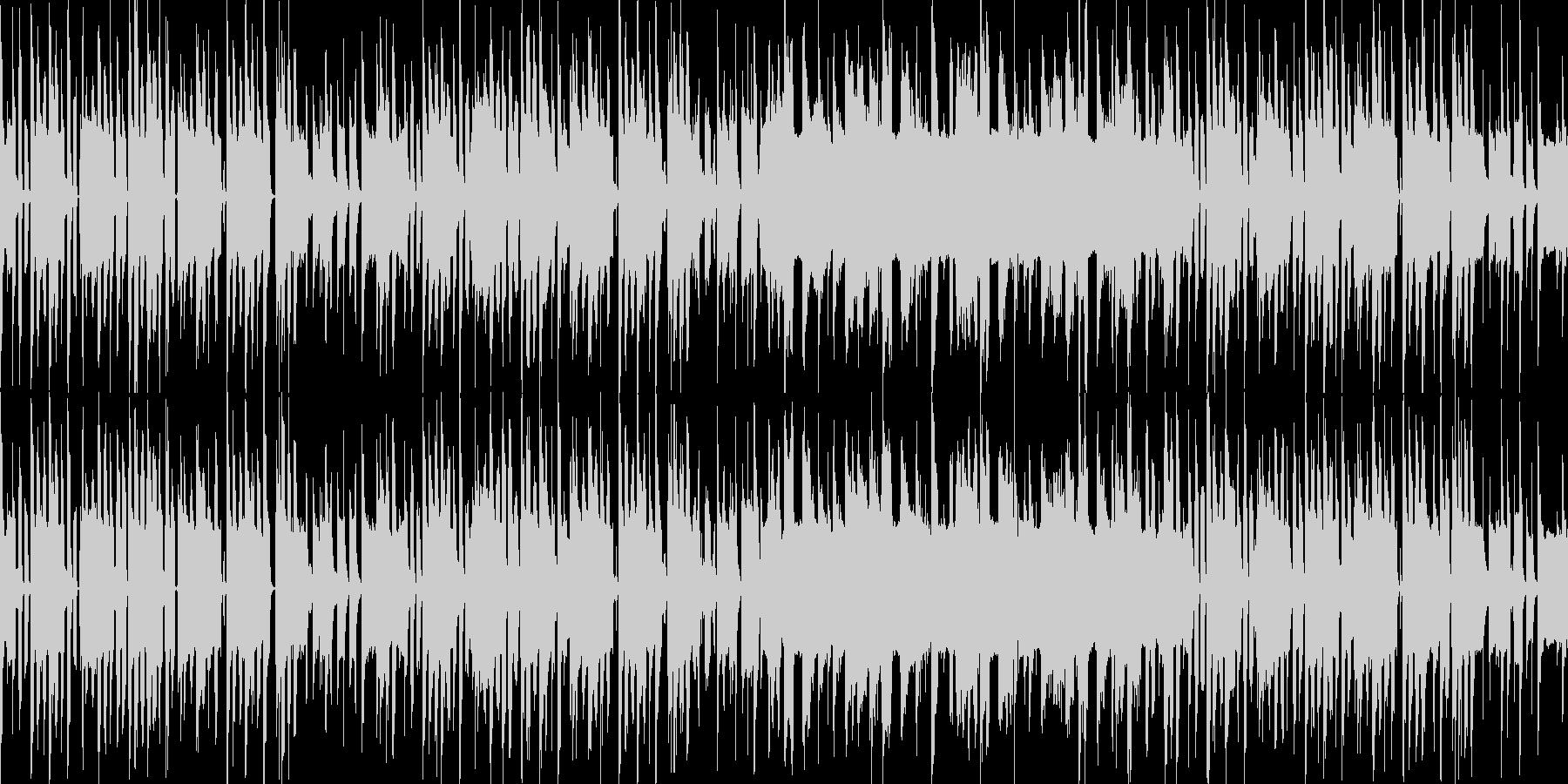 ループ可能なのんびりBGMの未再生の波形