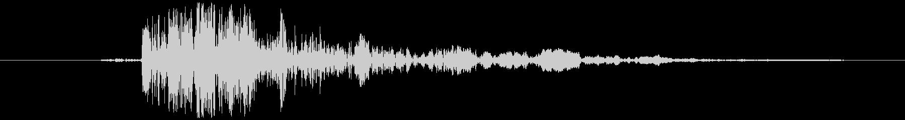 電気ポット フタの開閉音(コッ+ガッ)の未再生の波形