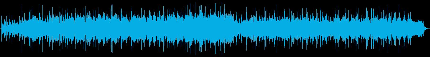 ほのぼのとした民族音楽の再生済みの波形