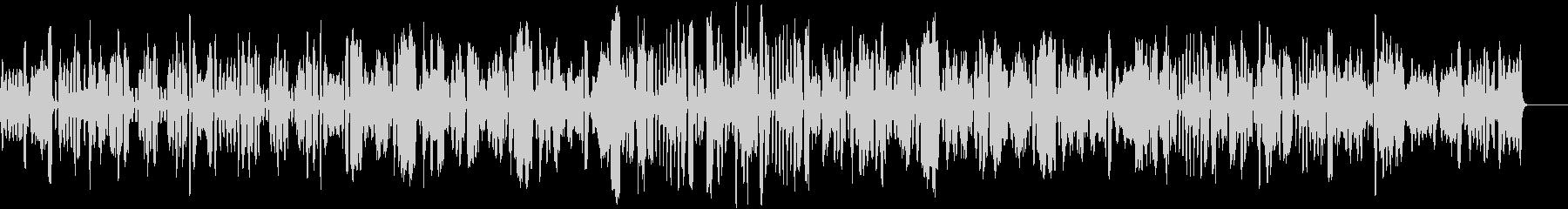 軽快なブルースのリコーダー曲の未再生の波形