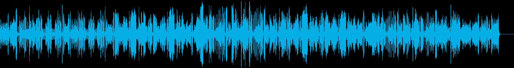 軽快なブルースのリコーダー曲の再生済みの波形