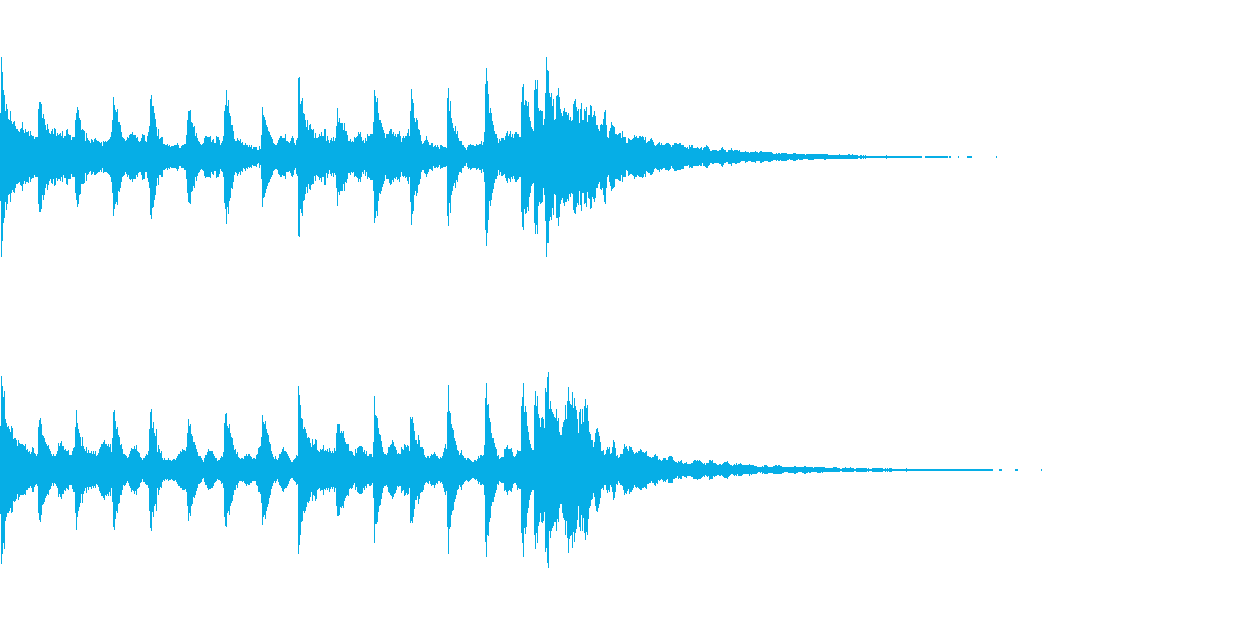 氷・クリスタルイメージの通知音の再生済みの波形