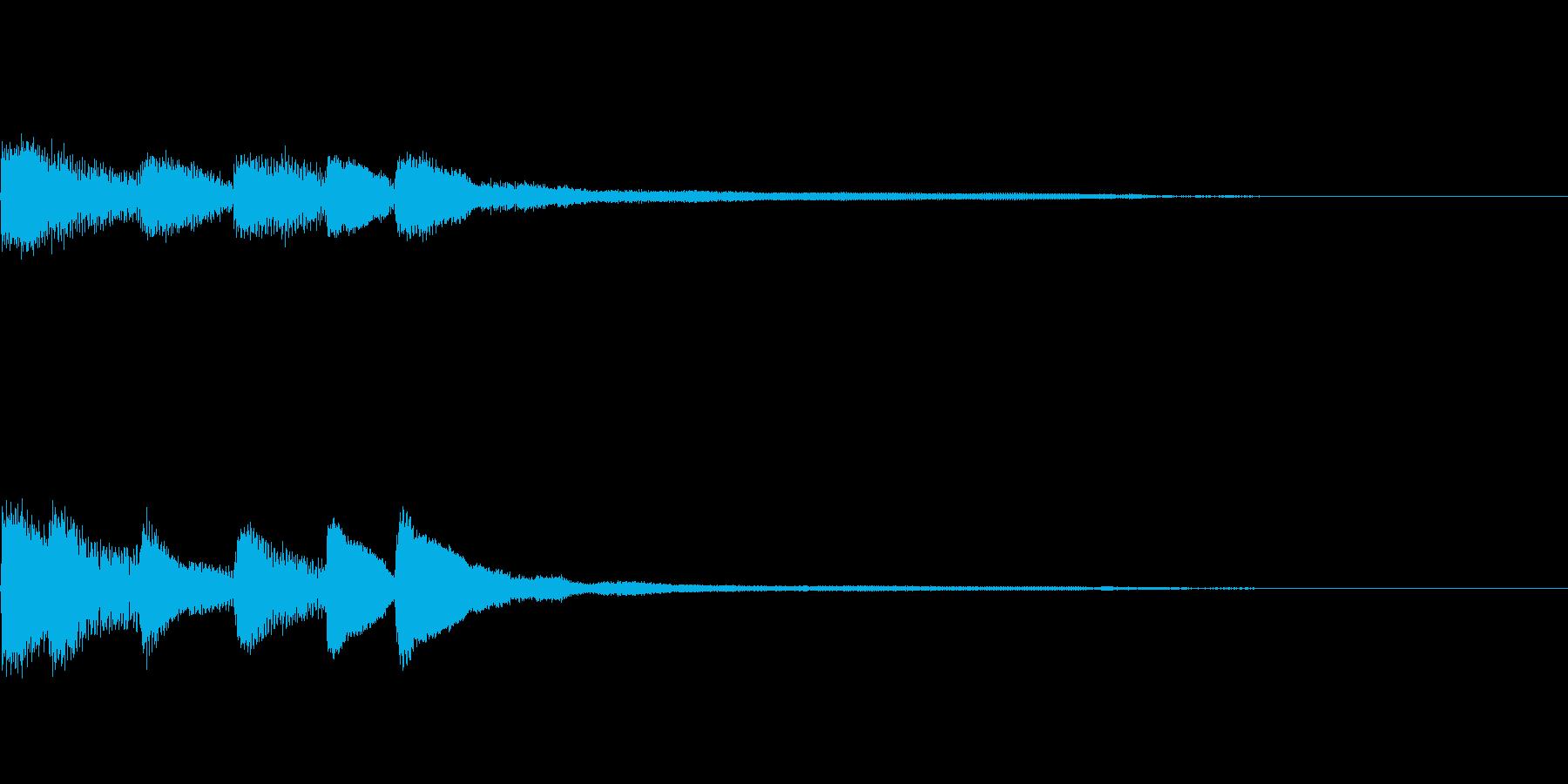 ピアノジングル01_dの再生済みの波形