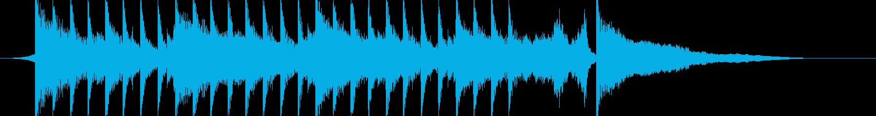 オープニング曲「始まるよ」子供の声入りの再生済みの波形