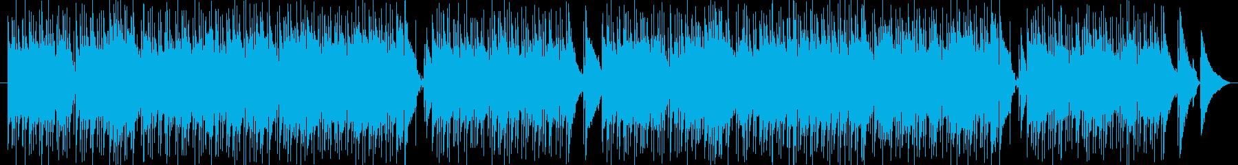 穏やかなフルートボサノバの再生済みの波形