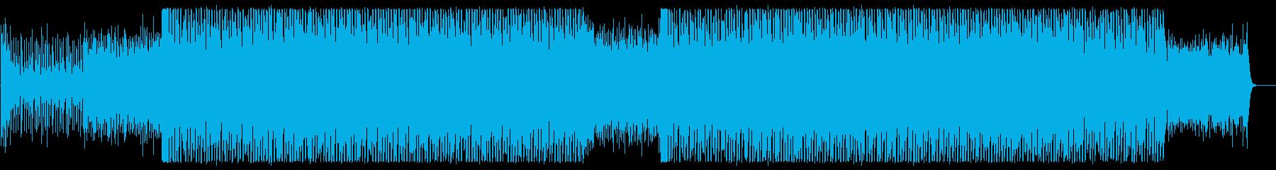 アナログシンセのテクノポップの再生済みの波形