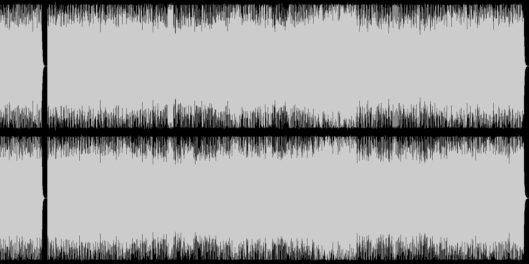 ダークな3連系リズムのヘビーメタルBGMの未再生の波形