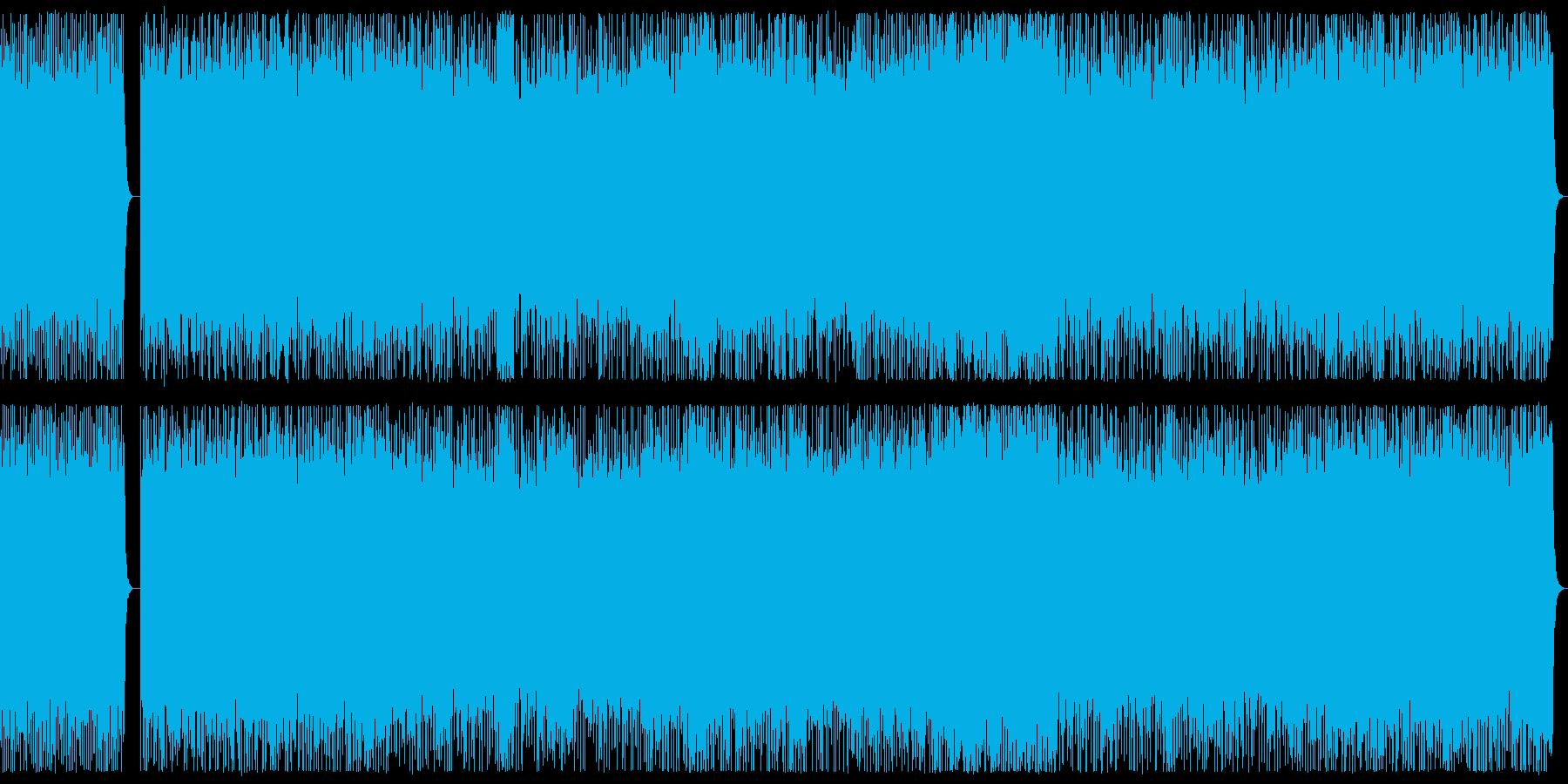 ダークな3連系リズムのヘビーメタルBGMの再生済みの波形