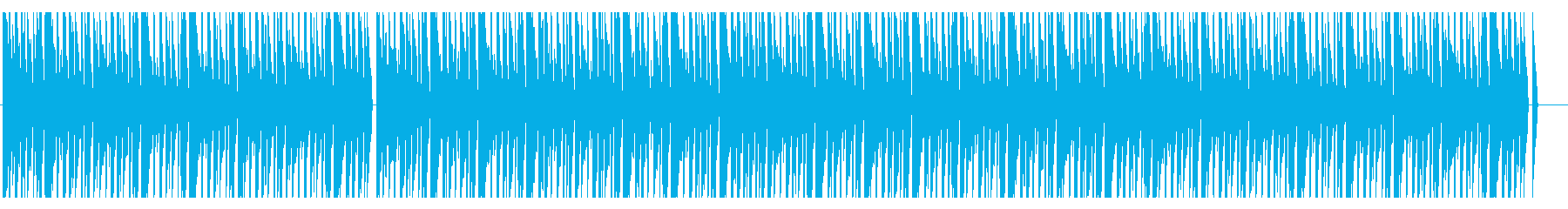 シンプルで爽やかなハウスの再生済みの波形